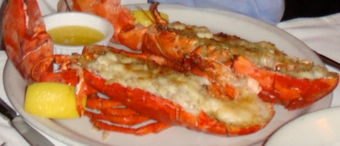A baked lobster from Docks.